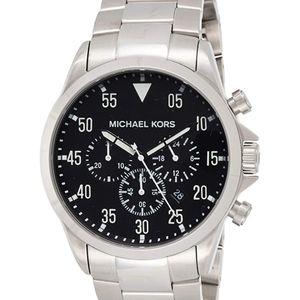 MK GAGE Silver Watch NWT $275 retail